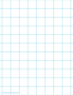 1 Inch Graph Paper – 1 Inch Grid Paper Printable – Free Printable Paper