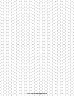Hexagonal Graph Paper – Free Printable Paper