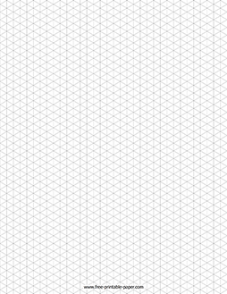 Isometric Graph Paper – Free Printable Paper