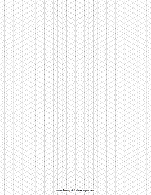 isometric graph paper  u2013 free printable paper