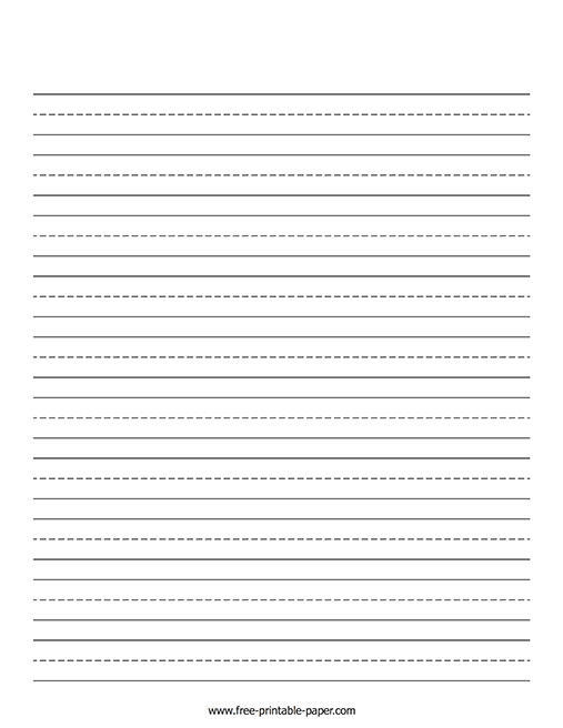 graphic about Printable Lined Paper Kindergarten identify Kindergarten Composing Paper Absolutely free Printable Paper