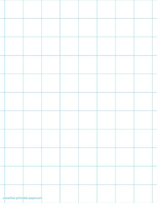 large squared paper 1 sqare per inch free printable paper