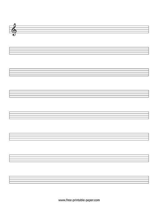 music manuscript paper pdf  u2013 free printable paper