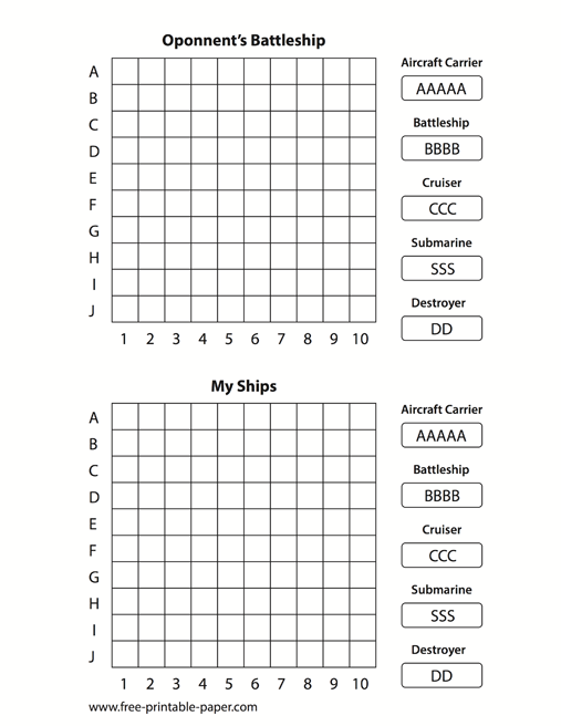 Critical image with regard to battleship printable