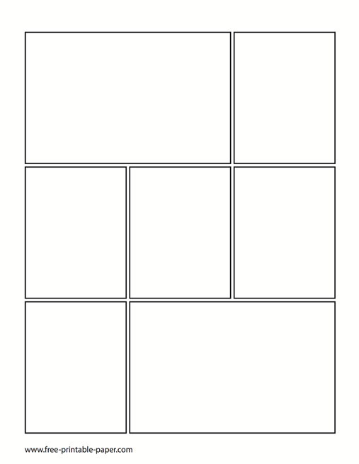 printable comic book page comic book template free printable paper