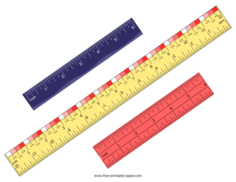 It is a picture of Bewitching Printable Paper Ruler