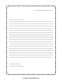 Letter Writing Paper – Free Printable Paper