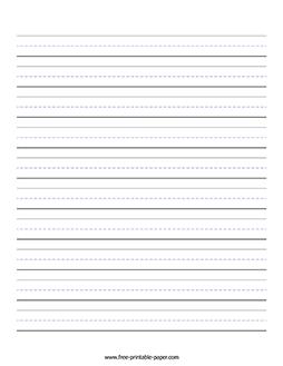 Printable Handwriting Paper – Free Printable Paper