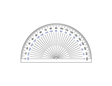 Printable Protractor – 180 Degree Protractor – Free Printable Paper