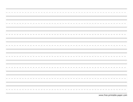 Kindergarten Writing Paper – Free Printable Paper