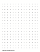 graphic relating to Printable Dot Grid Paper referred to as Printable Dot Paper Quarter Inch Dotted Grid Paper Free of charge