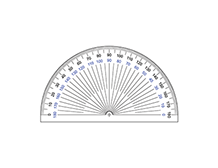 photograph about Printable Protractors named Printable Protractor 180 Amount Protractor Totally free